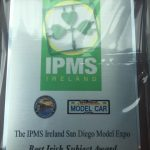 This is the plaque for the IPMS Ireland Best Irish Subject Award that will be presented at this year's San Diego Model Expo.